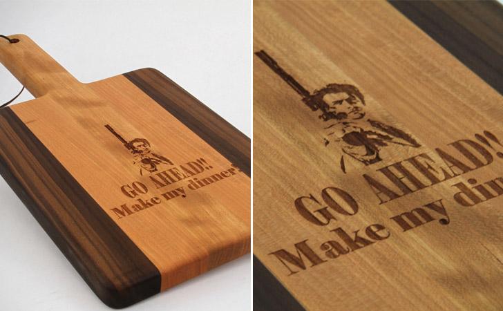Go Ahead Make My Dinner Clint Eastwood Cutting Board