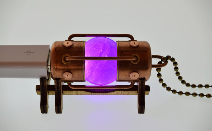 Handmade Natural Amethyst Stone Steampunk Style USB Drives