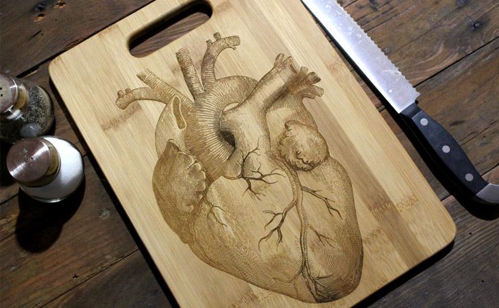 Heart Anatomy Cutting Board - cool cutting boards