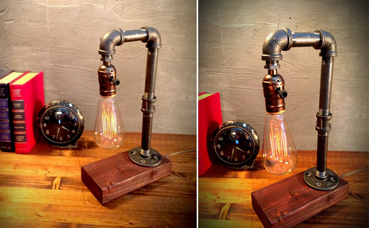 Industrial Iron Pipe Lamp - Unique Table lamps