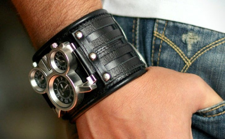 Leather Cuff Steampunk Watch
