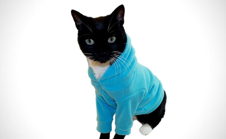 Micro Fleece Cat Hoodie