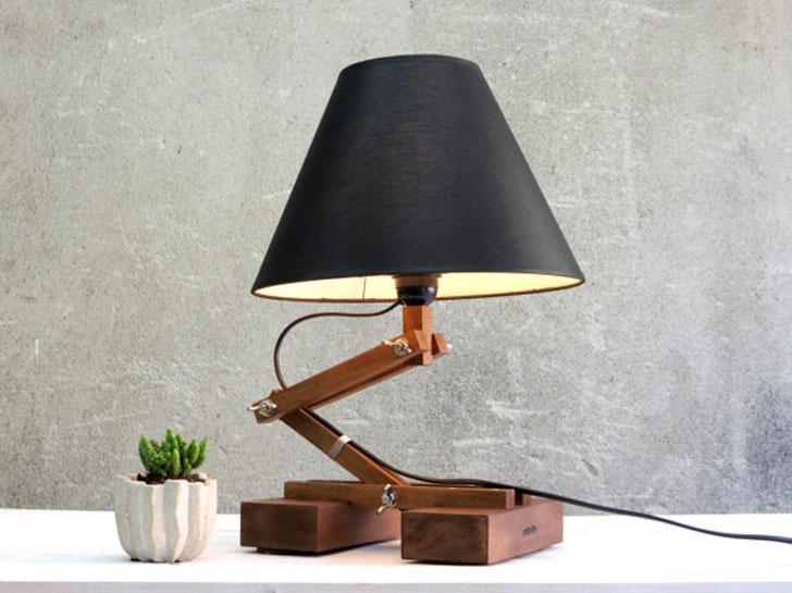 Mid Century Wooden Table Lamp