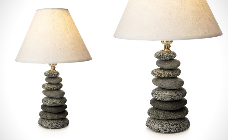 Mini Coastal Pebble Lamp