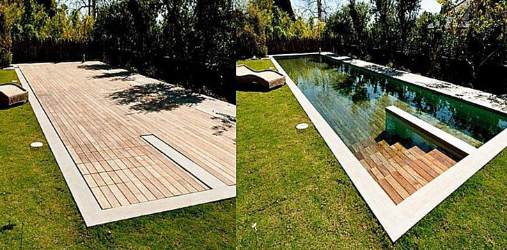 Moving Floor Pool Cover
