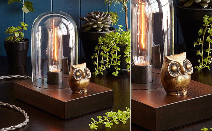 Mr. Owl Touch Lamp - unique table lamps