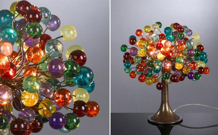 Multicolored Bubble Tree Table Lamp