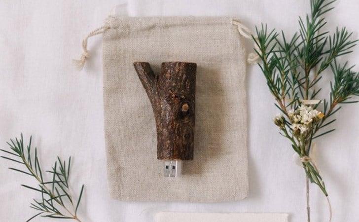 Natural Wooden Twig USB