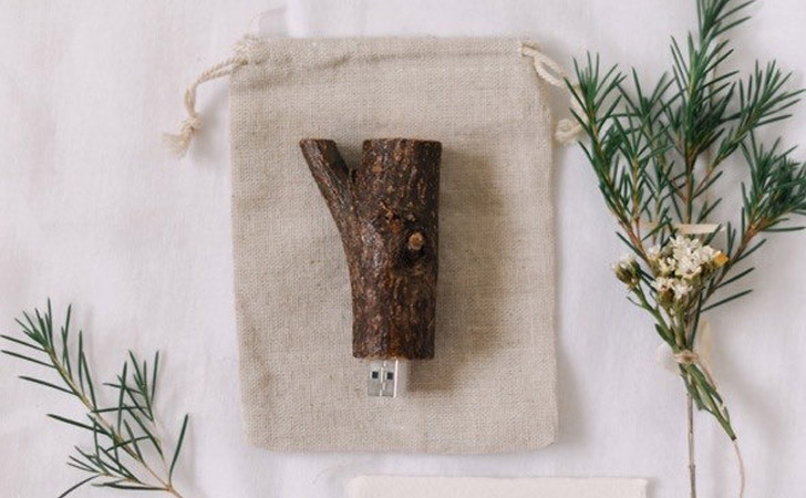 Natural Wooden Twig USB