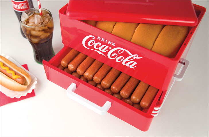 Nostalgia Coca-Cola Hot Dog Steamer