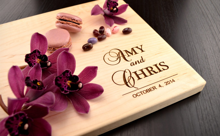 Personalised Wedding Gift Cutting Boards