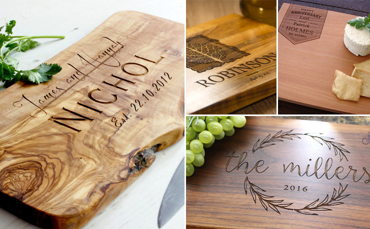 Personalized Anniversary Cutting Boards