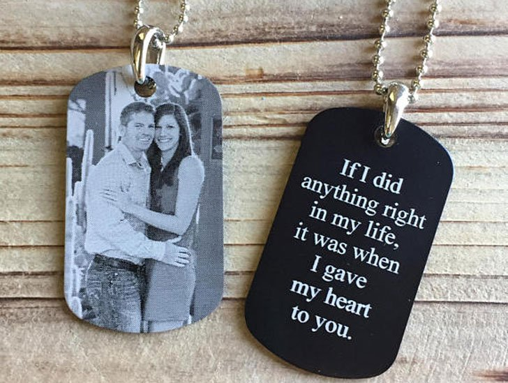 Personalized Dog Tag Pendant Necklace