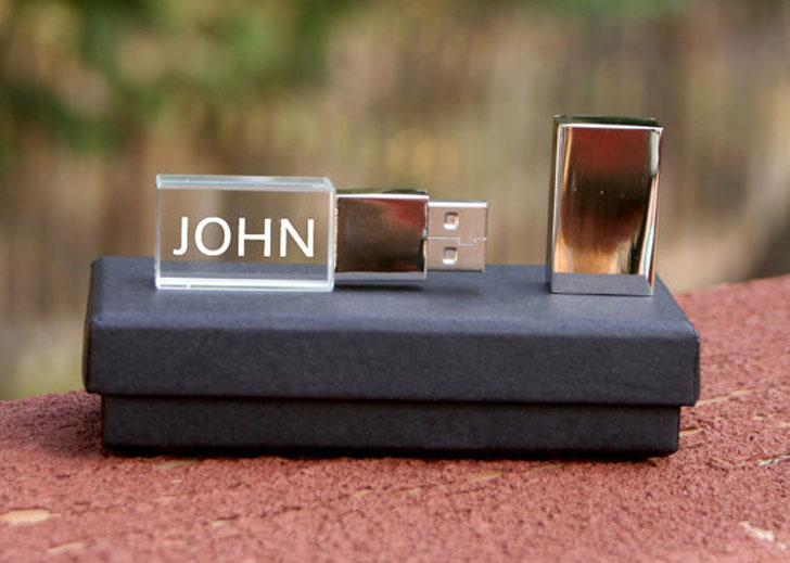 Personalized Engraved Glass USB