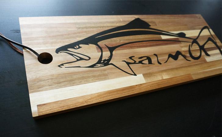 Salmon Cutting Board