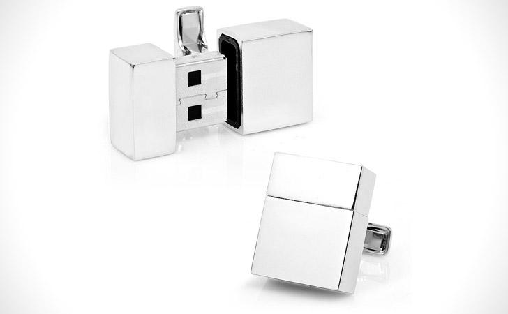 Silver Cufflinks USB Drive