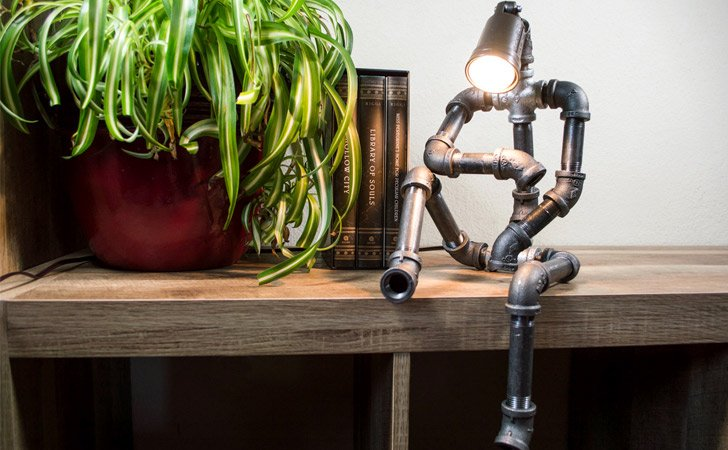 Sitting Robot Industrial Lamp - Unique Table lamps