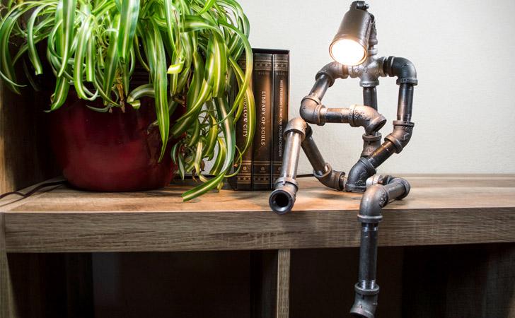 Sitting Robot Industrial Lamp - Unique Table lamps