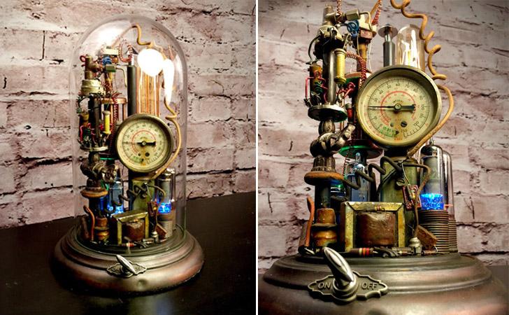 Steampunk Art Sculpture Lamp