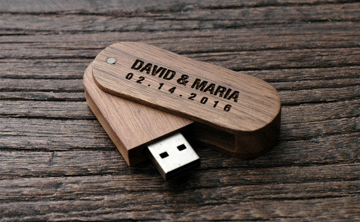 Stylish Personalized Wooden USB Drives