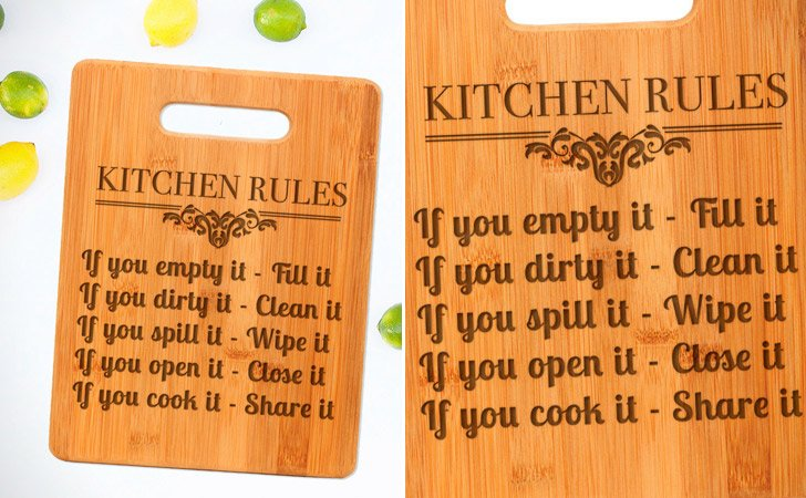 The Kitchen Rules Cutting Board