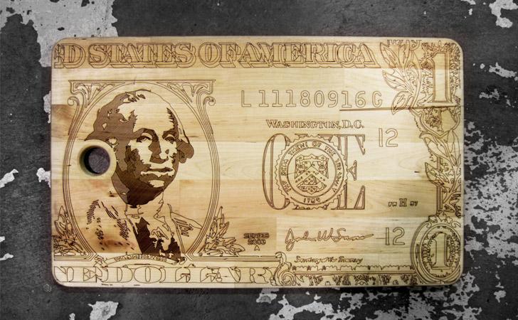 U.S One Dollar Bill Cutting Board
