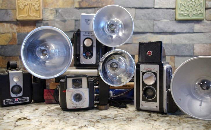 Vintage Camera Flash Table Lamp