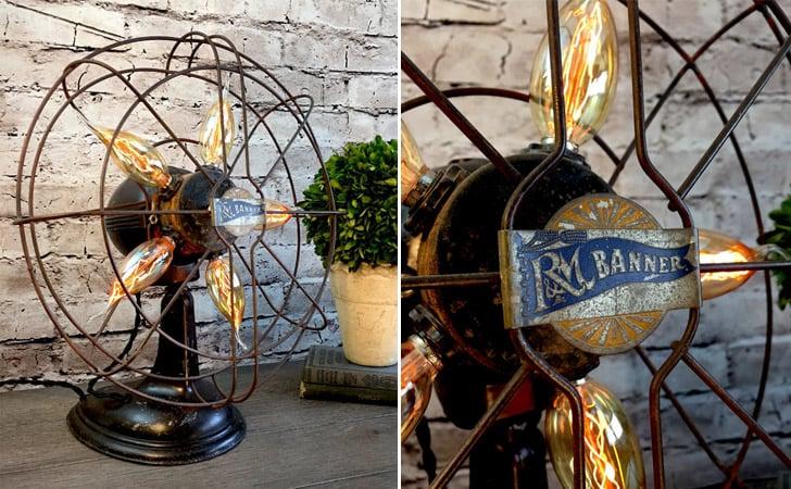 Vintage Electric Fan Table Lamp