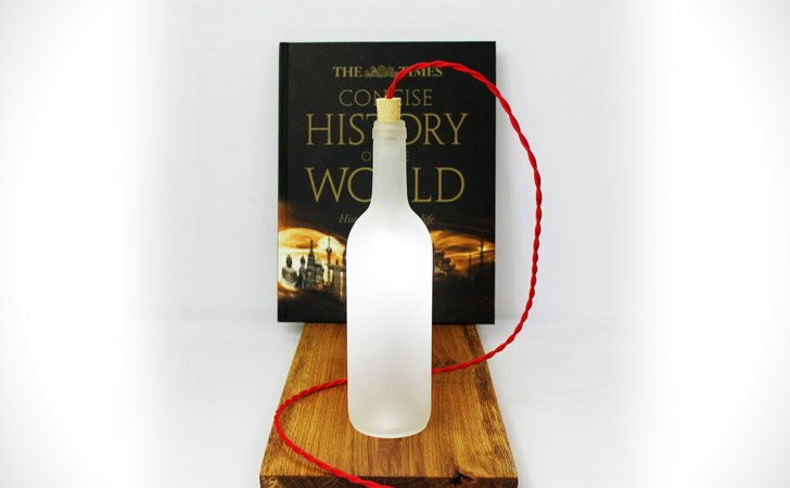 White Wine Bottle Table Lamp