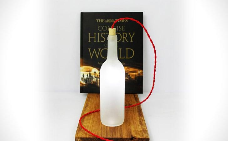 White Wine Bottle Table Lamp