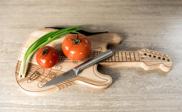 Wooden Guitar Cutting Board