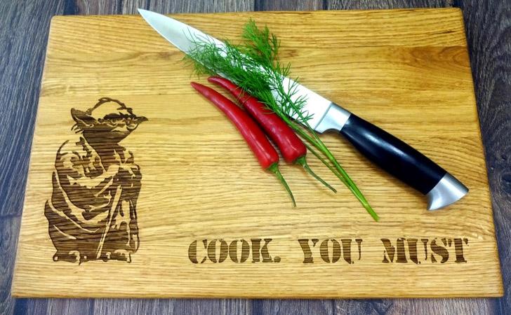 Yoda Cook You Must Cutting Board - cool cutting boards
