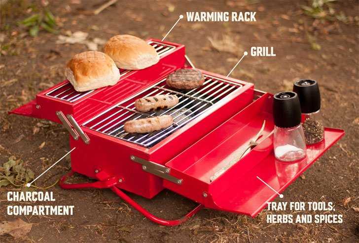 Bbq Toolbox Portable Grill Station Awesome Stuff 365