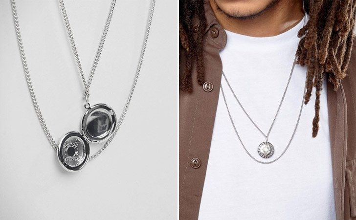 Double Chain Locket Necklace