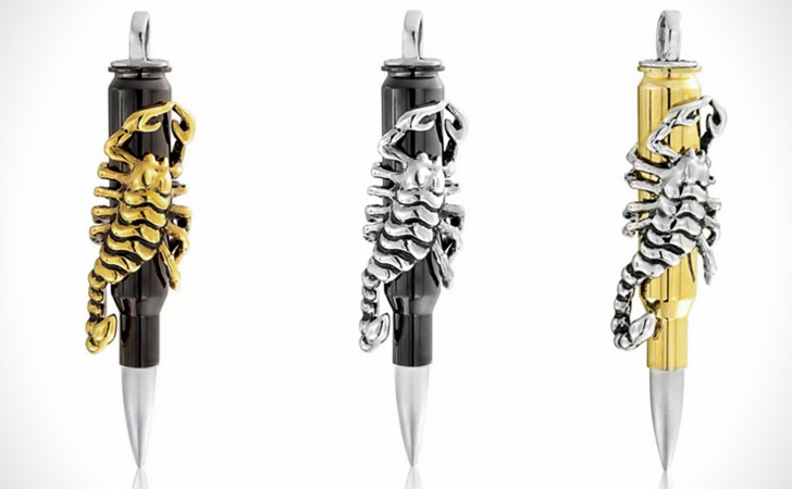 Dual-Colored Scorpion Bullet Necklace