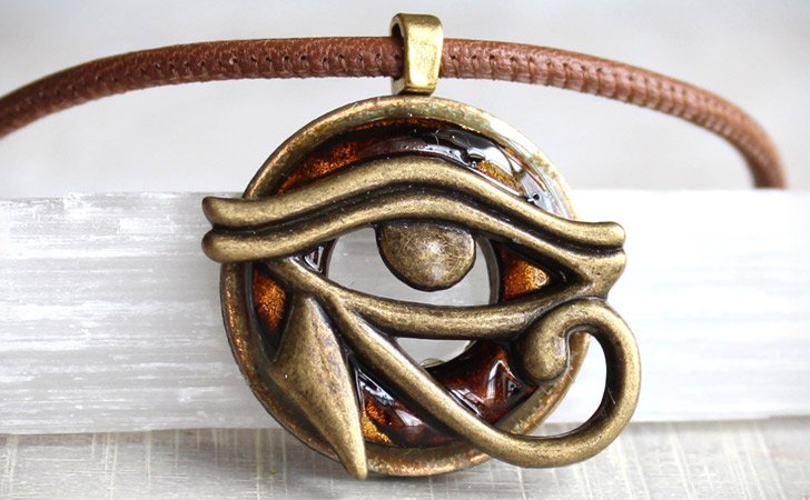 Egyptian Eye Of Horus Necklace - cool necklaces for guys