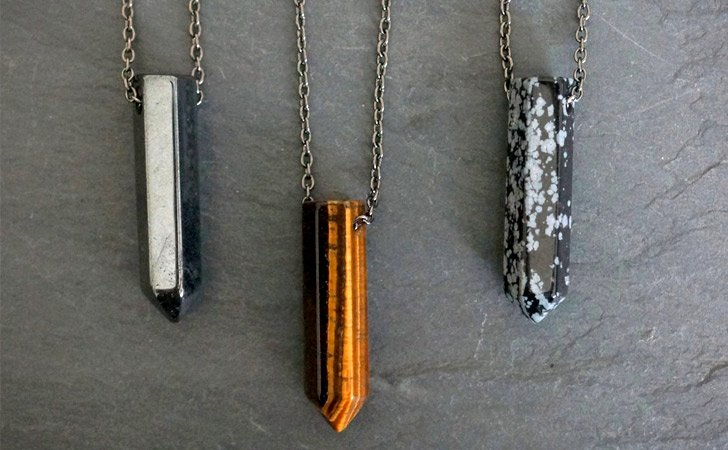 Gemstone Pendant Men's Necklaces