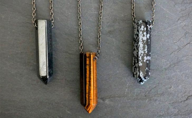 Gemstone Pendant Men's Necklaces