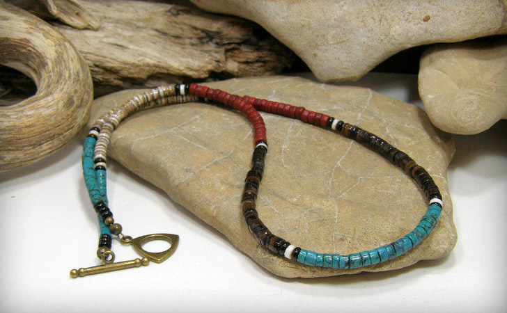 Heishi Tribal Beaded Necklace