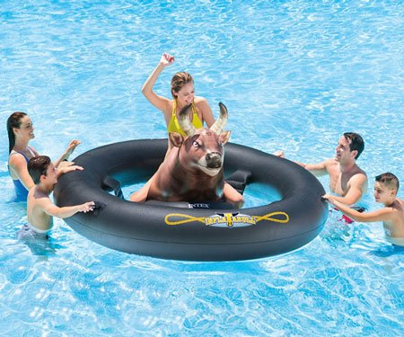 Inflat-A-Bull: Inflatable Pool Float