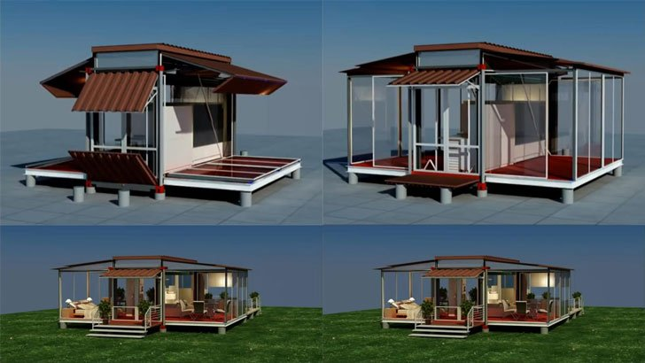 Modular Shipping Container Homes on Small Office Floor Plans