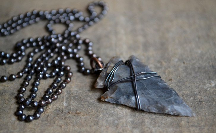 Rustic Arrowhead Copper Chain Necklace - cool necklaces for guys