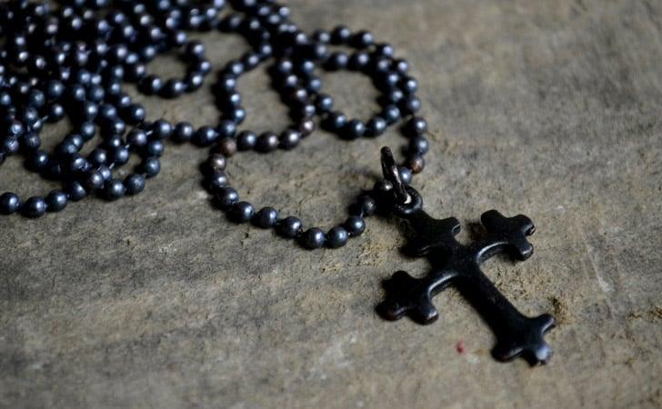 Rustic Copper Cross Necklace