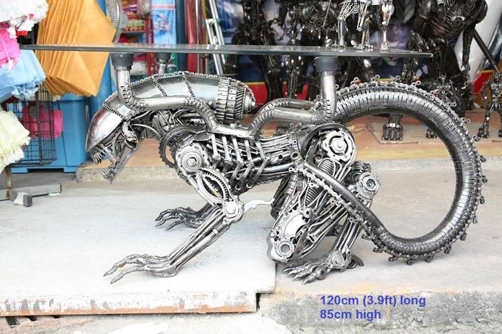 Scrap Metal Art Sculptures