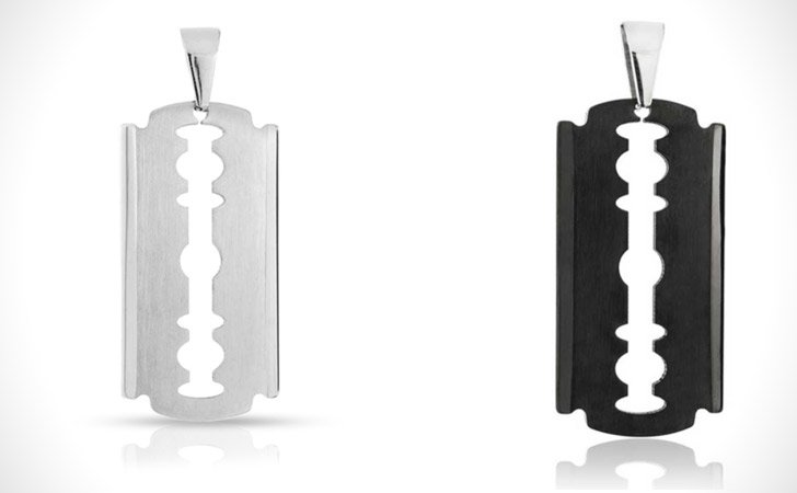 Stainless Steel Razor Dog Tag
