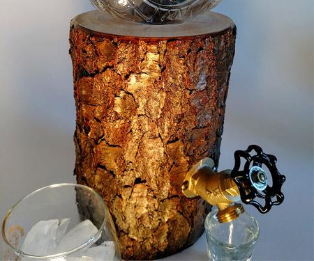 The Log Liquor Dispenser