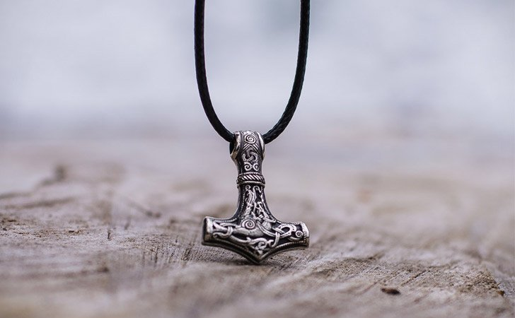 Thor's Hammer Mjolnir Sterling Silver Necklace - cool necklaces for guys