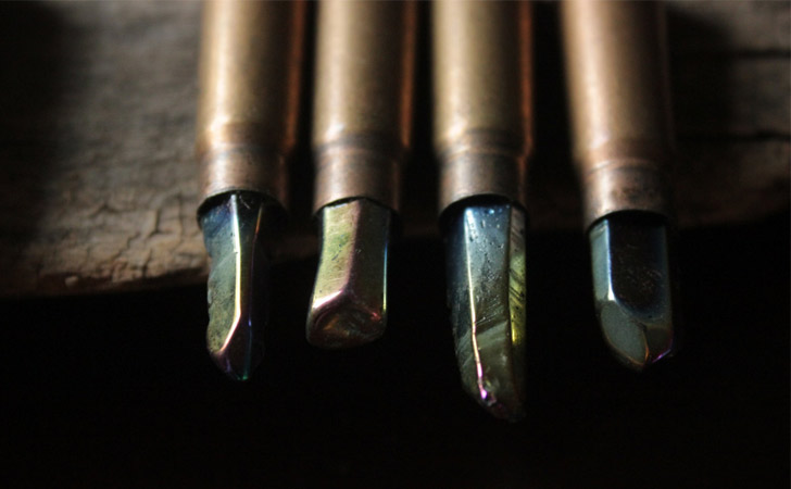 Titanium Quartz Gem Bullet Necklace