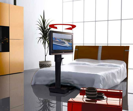 Under Bed Motorized TV Lift