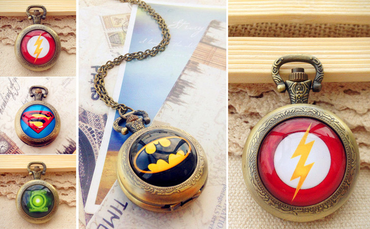 Assorted Super Hero Pocket Watches - Pocket Watches For Men